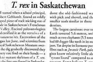 T. rex in Saskatchewan
