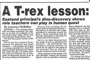 A T. rex Lesson