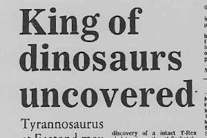 King of dinosaurs uncovered