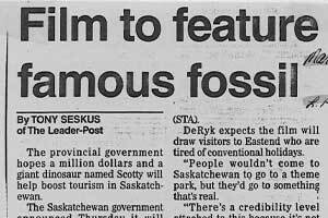 Film to feature famous fossil